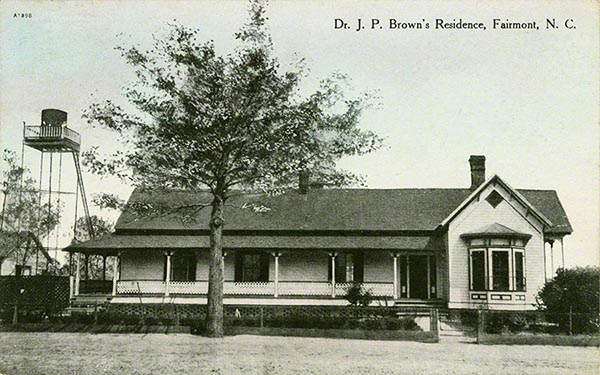 Dr JP Browns Residence Fairmont NC