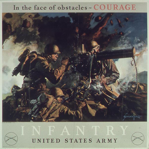 In the face of obstacles Courage poster